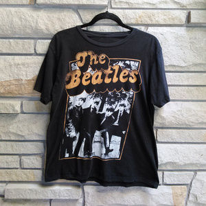 The Beatles black group graphic band tee t-shirt
